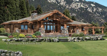 Mountain craftsman style house plans wood river floor for Timber frame ranch home plans