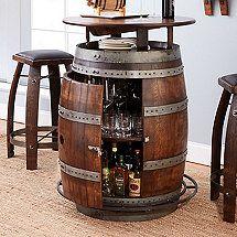 Vintage di vino della quercia Barrel Bistro Table & Bar Sgabelli (Whiskey Fine)