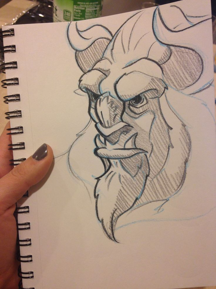 Beauty and the Beast sketch! | My Art in 2019 | Disney ...