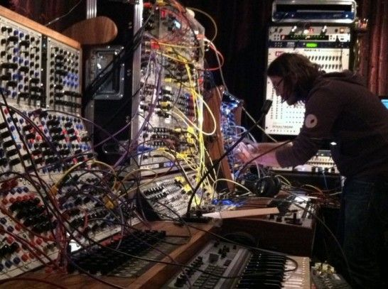 More of Trent Reznor's studio. Apparently dude just has a room of ceiling-high modular units. 'tis nuts.