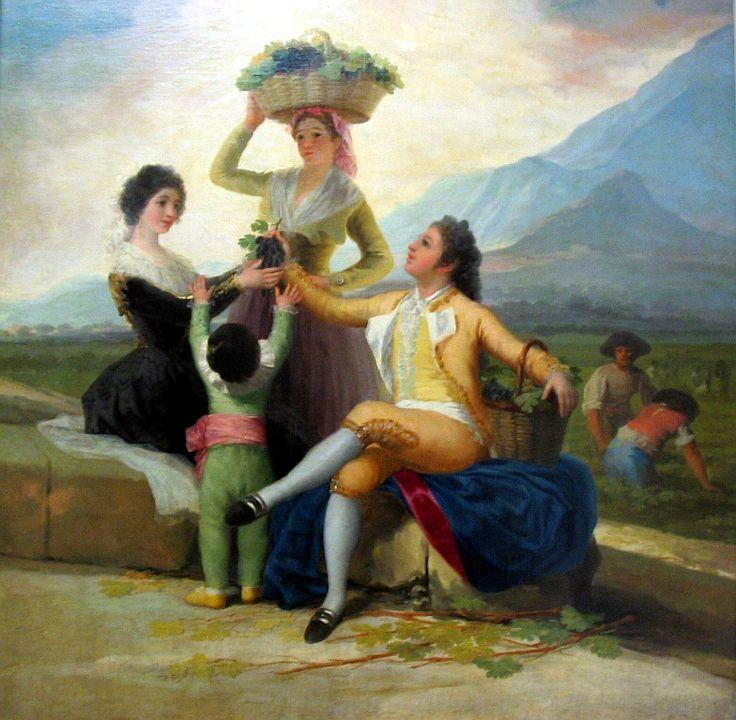 La cosecha de la uva por Francisco de Goya