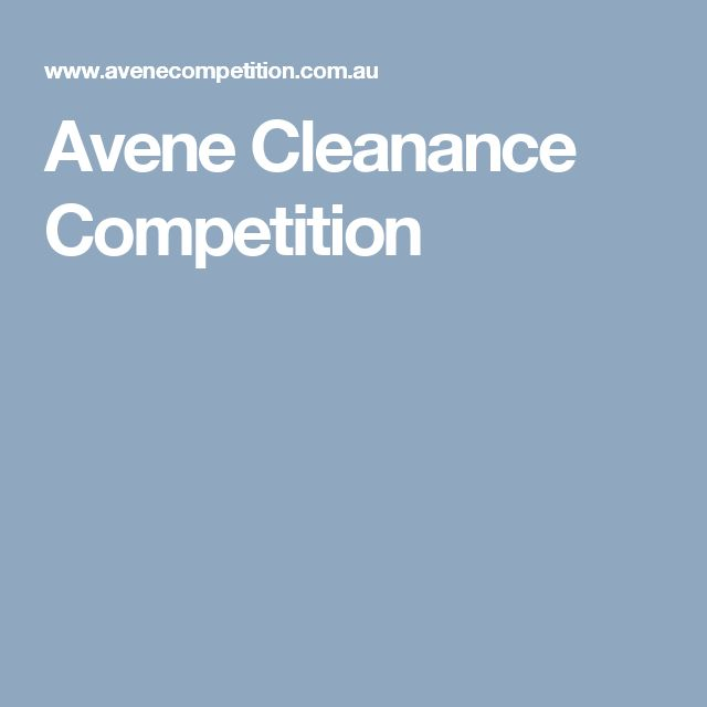 Avene Cleanance Competition