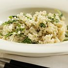 Vegetarische risotto met roomkaas en rucola (recept van okokorecepten.nl)