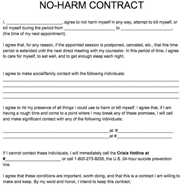 17 best Free Counseling Note Templates images on Pinterest Notes - safety contract template