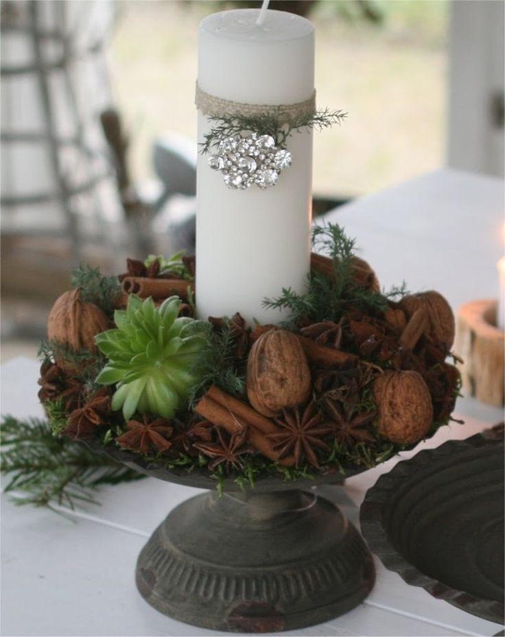 Centre de table Noël à faire soi-même – la cerise sur le gâteau de la table festive
