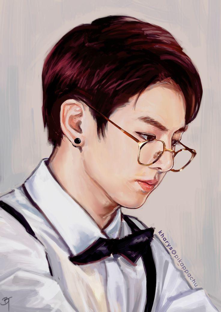 Jungkook Bts Drawings: Fan Art Images On Pinterest