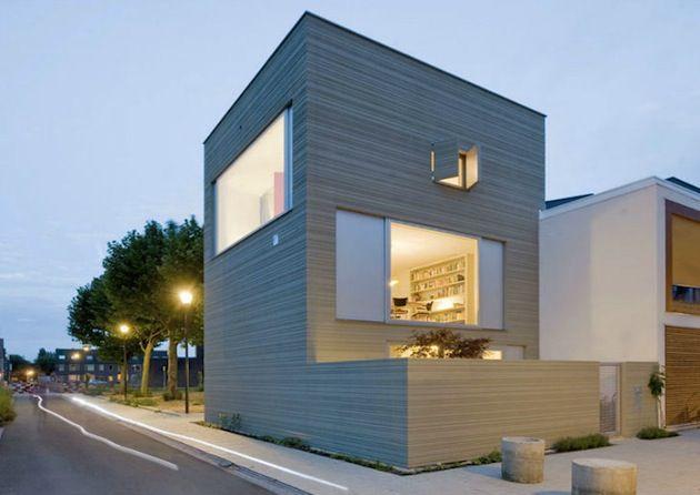 Netherlands Stripe House by GAAGA
