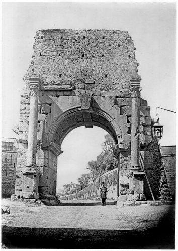 Pont de l'aqueduc fournissant les thermes de Caracalla (Arc de Drusus). Via Appia, 1853 1853
