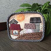 """Handtassen en accessoires.  Fair of Masters - Handgemaakte schoonheidsspecialist """"The Sun Warms"""" Japans patchwork.  Met de hand gemaakt."""