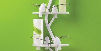 Bird Bath Shower Caddy: il ramo appendicose per la doccia