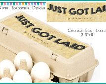 """2.5"""" x 8"""" Egg Carton Labels, Customized Label Perfect for Chicken Coop for Backyard Chickens Keepers"""