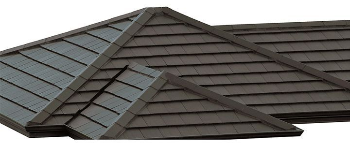 Monier Horizon concrete roof tile in Caviar