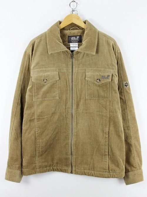 2a453f80c8 Jack Wolfskin Superb Mens Cord Jacket, Size L Interior sherpa jacket beige