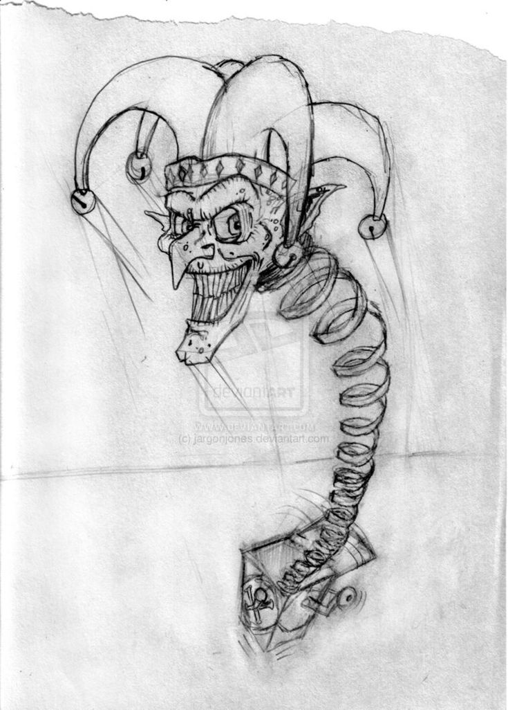 Jack in the Box Sketch by jargonjones on DeviantArt