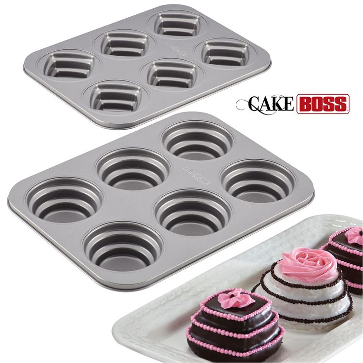 Shape up unique cakes, cookies, and other baked treats with these easy-to-use specialty pans and molds. Cake Boss Novelty Bakeware reduces the guesswork for braided sugar cookies, mini cakes, and tiered cakelettes! Mix it up, pour it in, and let the oven and long-lasting nonstick do the rest. Click on the image to learn more.