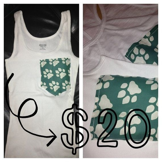 Slim Fit Ohio University Pocket Tanks by kaylealivingston on Etsy, $20.00
