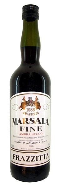 Frazzitta Marsala Fine Ambra Secco - Fragrant and rich, with concentrated notes of raisin, dates, prunes and apricots. Velvety and full in the mouth, with a dry, moreish finish.  Enjoy as an aperitif, digestif - or use as a cooking ingredient.  17% ABV