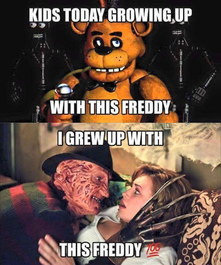 Nightmare on Elm Street and Five Nights at Freddy's, big difference! 😂😂