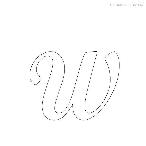 Stencil Letters W Printable Free W Stencils