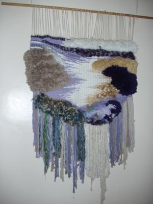 ola tapiz algodon,yute,otras fibras telar de alto lizo