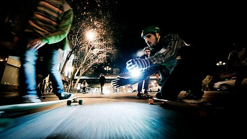 Winter Night Longboard