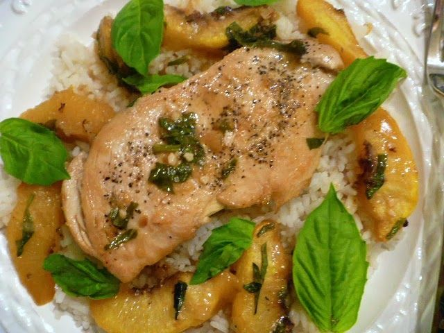 Slice of Southern: Basil Peach Chicken | Food!:) | Pinterest