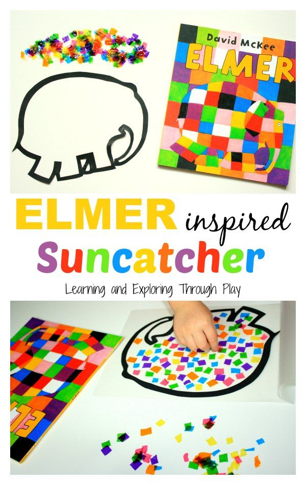 Learning and Exploring Through Play: Elmer Inspired Suncatcher Craft