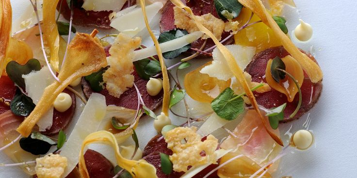 Paul Ainsworth's venison carpaccio recipe is a spectacular dish. The venison loin is marinated overnight, then seared. Parsnip purée and cri...