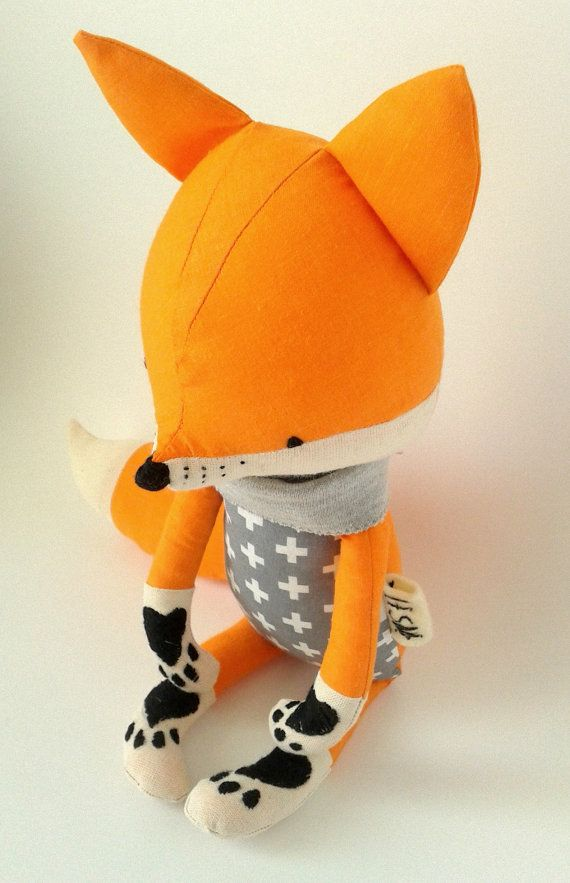 BO the fox. made-to-order. eco toy. gift for children. by LESNE