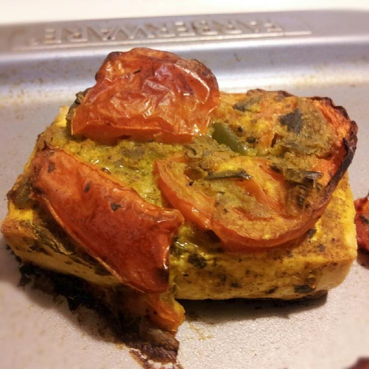 Tomato, Basil & Curry Tofu via @Katie Adler << Yum!New Recipe