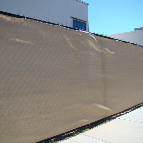 50u0027 tan windscreen fence screen mesh slat privacy fabric premium fence cover by fencescreen
