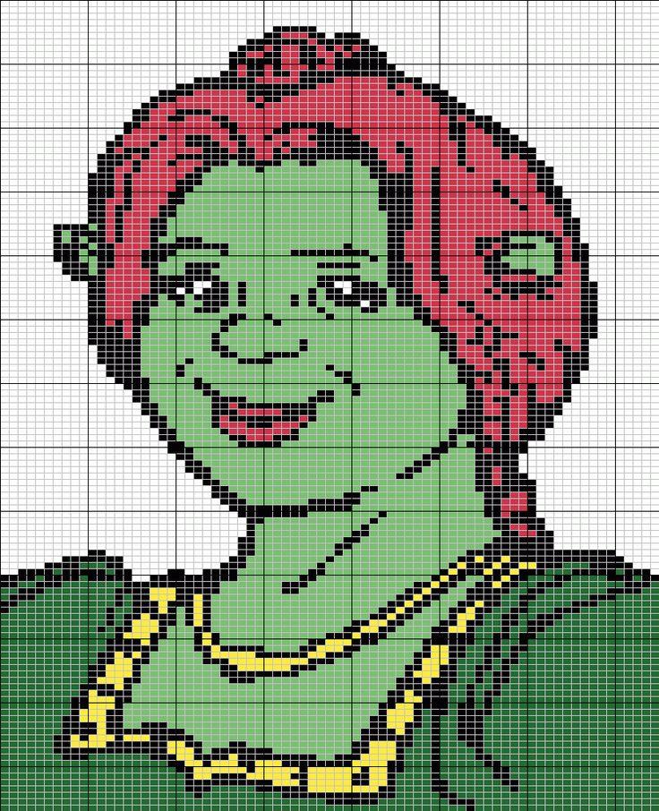 Fiona - Shrek perler bead pattern
