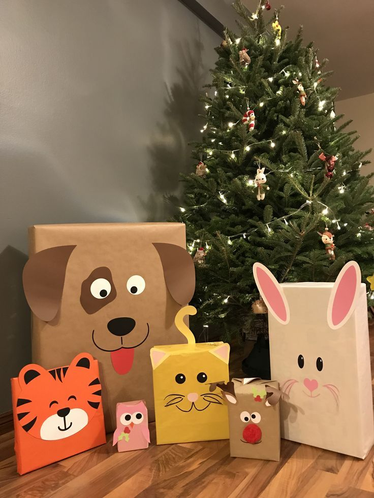 Gifts wrapping ideas – animals – #children's birthday #knights #packaging #children