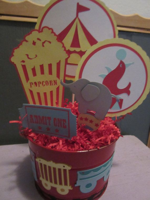 Circus Centerpiece Birthday Circus Circus Pail by ItzMyParty