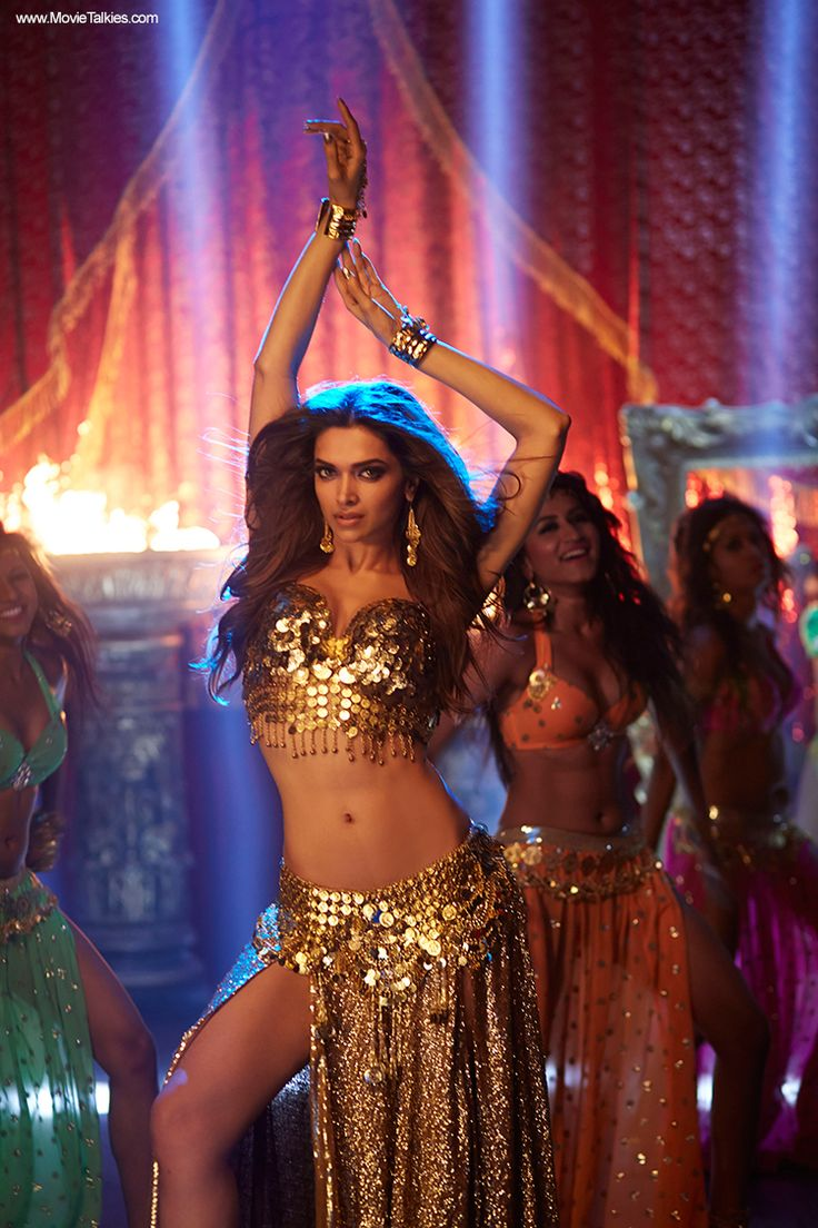 Deepika Padukone in a still of a 'LOVELY' song from 'Happy New Year'