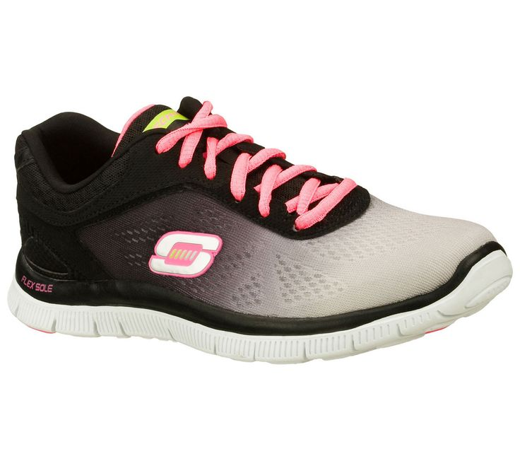 Take your sporty comfort with colorful style in the SKECHERS Flex Appeal -  Style Icon shoe