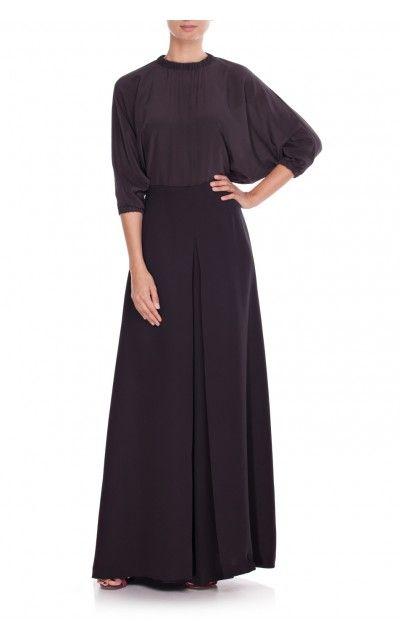 Jedwabne spodnie z szeroką nogawką czarne