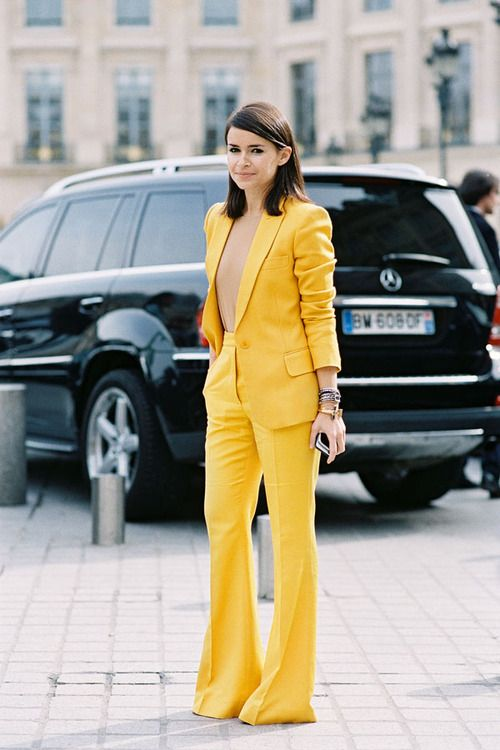 I wouldn't think I'd love a bright yellow suit this much but I do.