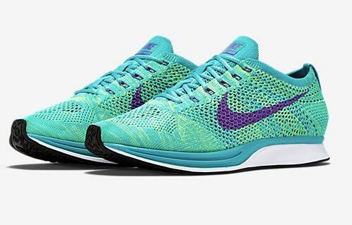 Nike Flyknit Racer turquesa