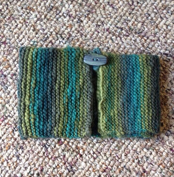 Variegated Green And Teal Mini Collar Scarf, Toddler Cowl, Button Cowl, Winter Accessory on Etsy, $11.50