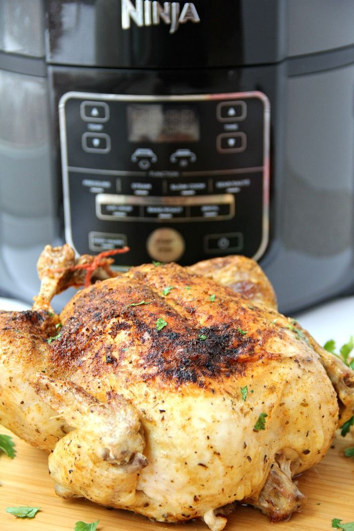 Ninja Foodi Roast Chicken Recipe Ninja Cooking System Recipes Whole Baked Chicken Roast Chicken Recipes
