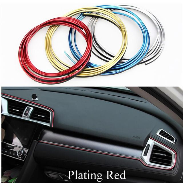 5m Car Interior Mouldings Trim Decorative Strip Line For Ford