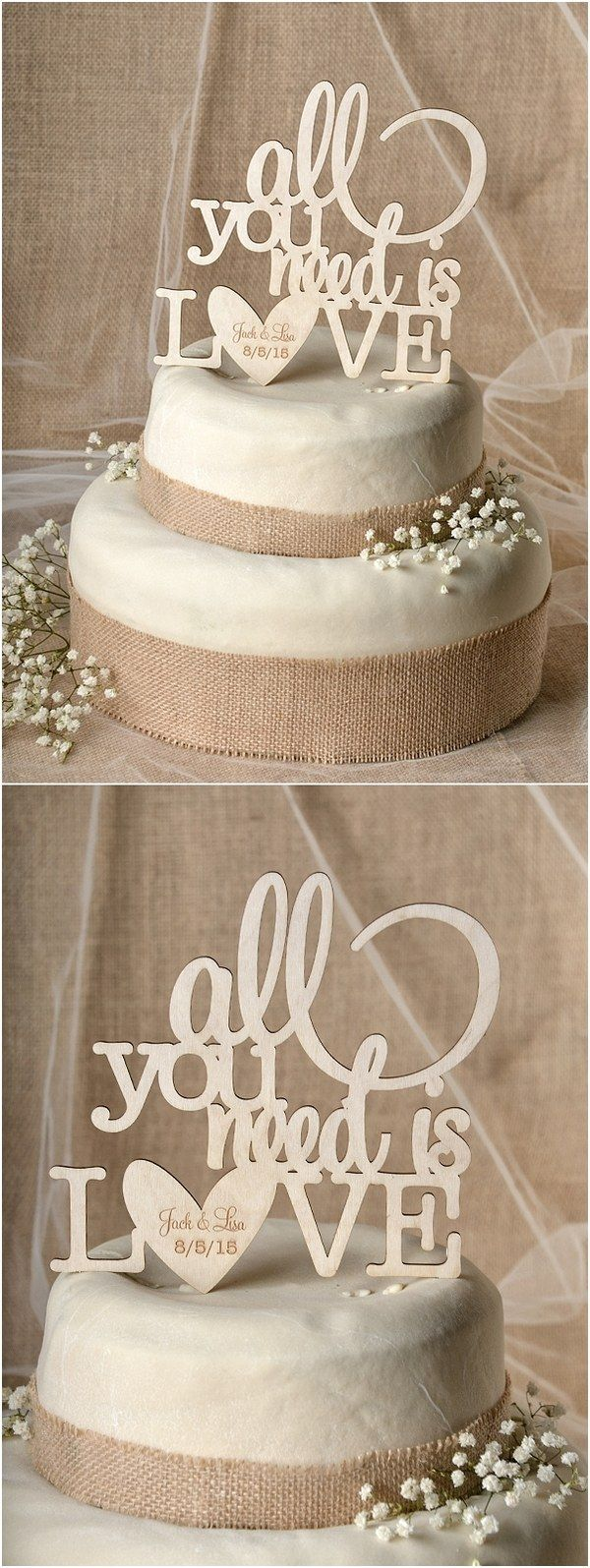 Country wedding cakes pictures - Awesome 57 Romantic Unique Wedding Cake Toppers