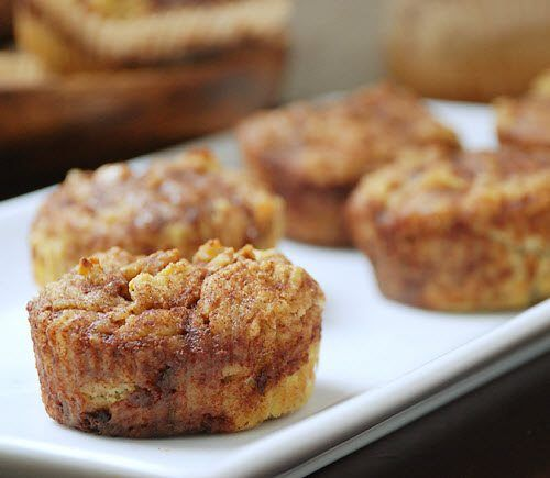Banana Cinnamon Bun Muffins #MultiplyDelicious. I used almond milk instead of coconut and and two whole bananas in the mix and one in the topping. Very moist and yummy!