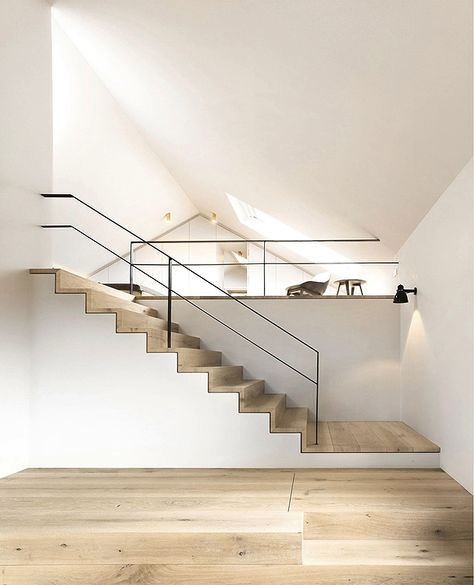 58 best Ideen fürs haus images on Pinterest Live, Stairs and - fensterfronten und metall treppe haus design minimalistisch