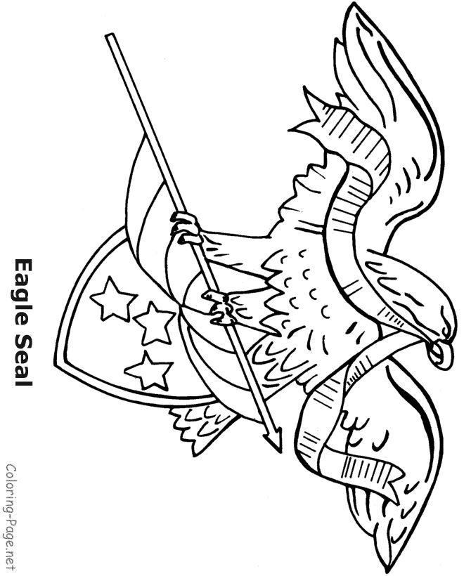 4th of july coloring pages american flageagle