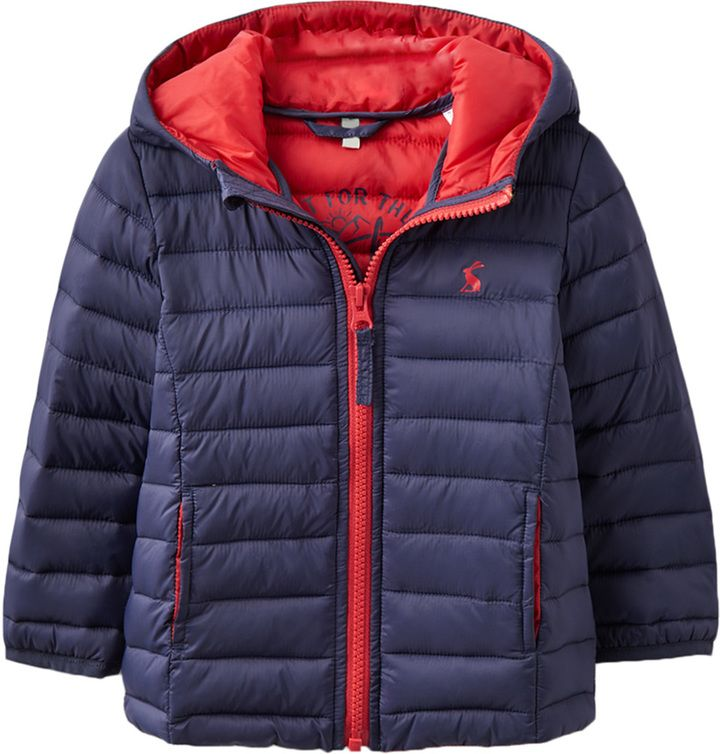 Joules Quilted Hooded Coat - Dark Blue/Navy, Size 18-24m