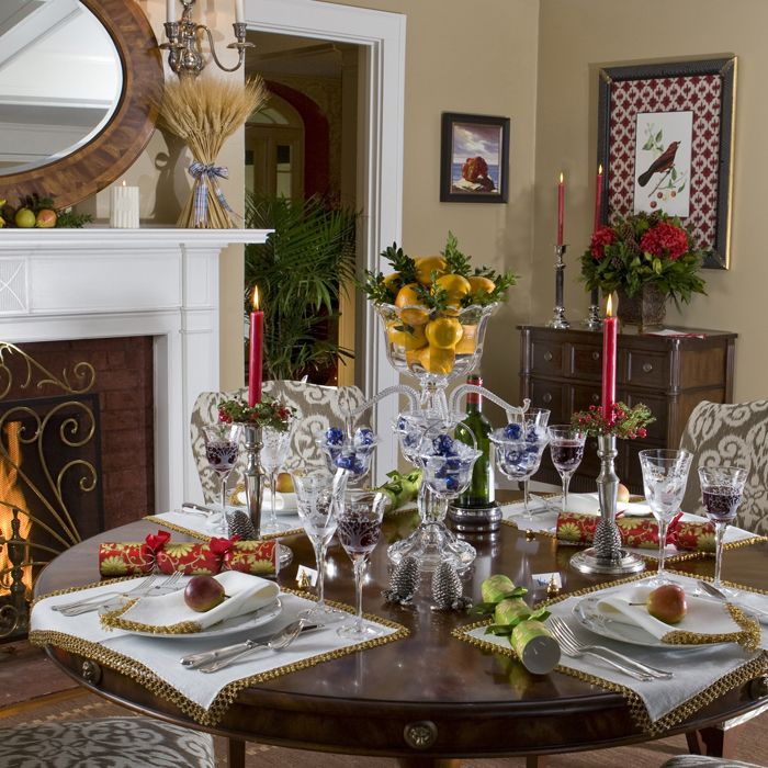 Edwardian Holiday Dining Interior Design
