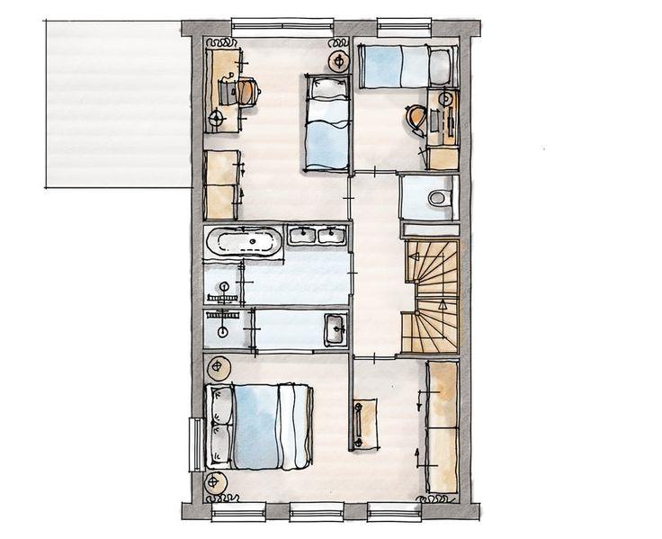Woningtype D en H, Leefwijze Hotelsuite: een masterbedroom met aparte garderobezone en eigen inloopdouche met wastafel. Deze grenst aan de badkamer.