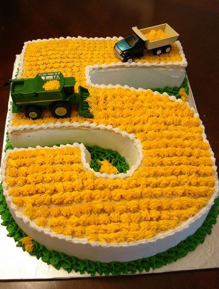 farming cake. so stinking cute! That has got to be one of the cutest little boys cakes I have ever seen! If any other colors than green and yellow!